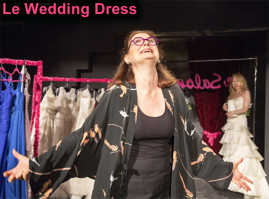 "Photo: ""Wedding Dress"" A One Act Comedy by Carrie Robbins; directed by Paul Dobie; featuring Jody Gelb; Kristie Dale Sanders & Jenne Vath;New York New Works Theatre FestivalDress Rehearsal Photographed: Monday, August 24, 2015 at 4:30 PM at The Times Square Arts Center, 300 W 43rd Street, New York, NY. Photograph: © 2015 Richard Termine PHOTO CREDIT - Richard Termine"
